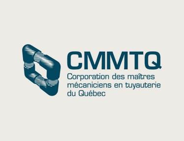 Logo de CMMTQ Corporation des maîtres mécaniciens en tuyauterie du Québec